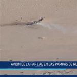 Chiclayo: Avión de la FAP cae en las pampas de Reque