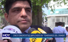 "Chiclayo: Cinco congresistas implicados en ""Temerarios del crimen"""