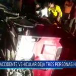 Chiclayo: Accidente vehicular deja tres personas heridas