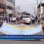 Chiclayo: Pescadores protestan ante alza de la extracción de anchoveta
