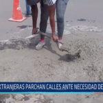 Chiclayo: Extranjeras parchan calles ante necesidad de trabajo