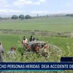 Piura: 8 personas heridas deja accidente de tránsito en vía Sullana – Talara.
