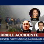 Piura: Accidente en carretera Canchaque – Huancabamba deja 3 fallecidos.