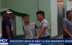 Piura: Adolescente abusa de niña y la deja gravemente herida