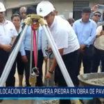 Chiclayo: Colocación de la primera piedra en obra de pavimentación