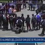 Chiclayo: Dos alumnos del colegio San José se pelean en la vía pública