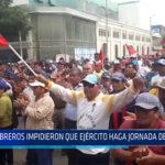 Chiclayo: Obreros impidieron que Ejército haga jornada de limpieza