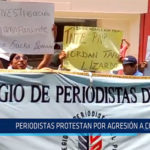Chiclayo: Periodistas protestan por agresión a colega