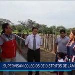 Chiclayo: Supervisan colegios de distritos de Lambayeque