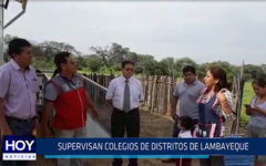 Chiclayo: Supervisan colegios de distritos de Lambayeque