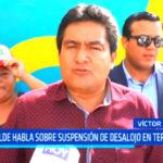 Alcalde de Víctor Larco habla sobre suspensión de desalojo en terminal