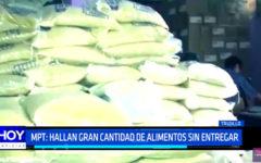 MPT: hallan gran cantidad de alimentos sin entregar