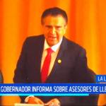 Vice gobernador informa sobre asesores de Manuel Llempén