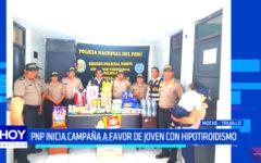 Policías inician campaña en favor de joven con hipotiroidismo