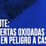 Chimbote: Compuertas oxidadas ponen en peligro a Cascajal