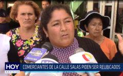 Chiclayo: Comerciantes de la calle Salas piden ser reubicados