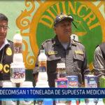 Chiclayo: Decomisan 1 tonelada de supuesta medicina natural