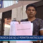 Chiclayo: Denuncia que no le permiten matricular a su hija