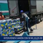 Chiclayo: Intervienen camión con 18 mil kilos de fruta