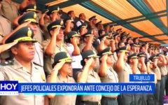 Trujillo: Jefes policiales expondrán ante Concejo de La Esperanza