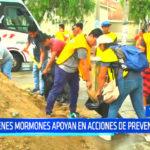 Trujillo: jóvenes mormones apoyan en acciones de prevención