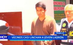 Trujillo: vecinos casi linchan a presunto ladrón