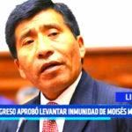 Congreso aprueba levantar inmunidad de Moisés Mamani