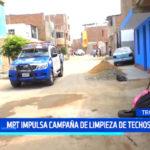 """Comuna trujillana impulsa campaña de """"limpieza de techos"""""""