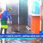 Trujillo: Segat y comerciantes limpian mercado La Unión