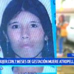Accidente: mujer con 7 meses de gestación muere atropellada