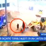 Mujer encontró terrible muerte en una cantera de arena
