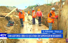 Quebrada San Ildefonso: obra se ejecutaba sin supervisor ni residente