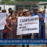 Chiclayo: Padres rechazan demolición de colegio Mater Admirabilis