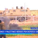 Al menos 17 palestinos heridos por disparos israelíes