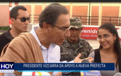 Chiclayo: Presidente Vizcarra da apoyo a nueva prefecta