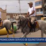 Chiclayo: Promocionan servicio de equinoterapia