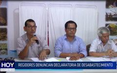 Chiclayo: Regidores denuncian declaratoria de desabastecimiento