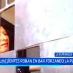 Trujillo: delincuentes robar en bar forzando la puerta