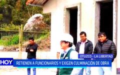 La Libertad: ronderos retienen a funcionarios y exigen culminación de obra