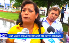 Trujillo: una mujer asume secretaría del Sutep regional