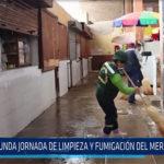 Chiclayo: Segunda jornada de limpieza y fumigación del Mercado Modelo