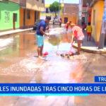 Trujillo: calles inundadas tras cinco horas de lluvia