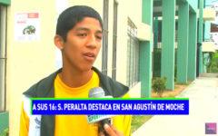Santiago Peralta destaca en San Agustín de Moche