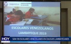 Chiclayo:  Son 178 escolares venezolanos en colegios lambayecanos