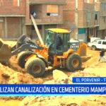 Trujillo: realizan canalización en cementerio Mampuesto