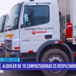 Chiclayo: Alquiler de 10 compactadoras es despilfarro de dinero