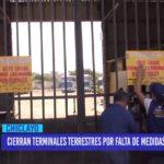 Chiclayo: Cierran terminales terrestres por falta de medidas de seguridad