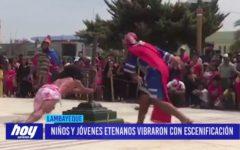 Chiclayo: Niños y jóvenes etenanos vibraron con escenificación