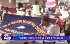 Chiclayo: 2000 mil colectiveros salieron a protestar