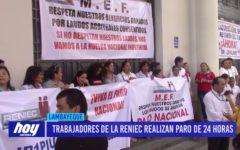 Chiclayo: Trabajadores de la RENIEC realizan paro de 24 horas